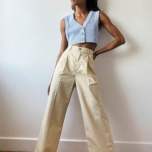NEW Levi's Pleated High Loose Khaki Wide Leg Jeans